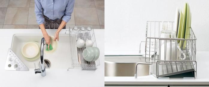 狭いキッチンで洗い物をどう置くか