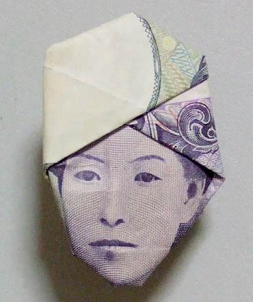 新5千円札の肖像画にイチロー ... : 折り紙 折り方 サイト : 折り方
