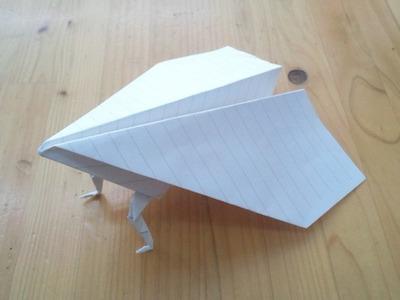 紙飛行機足つき