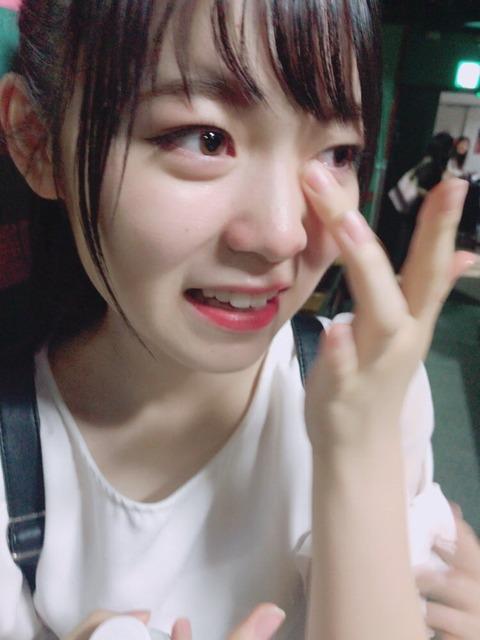 【AKB48】木﨑ゆりあ、最後のB公演・・・ 西川怜・山邊歩夢・福岡聖菜・後藤萌咲が涙でお別れ【四者四様】