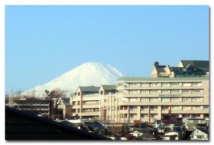 白雪の富士