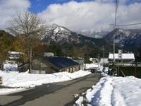 道路の雪20081122