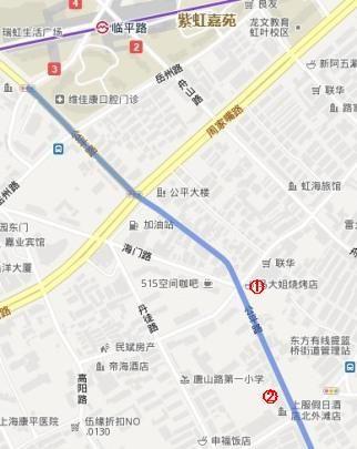 上海置屋地図(公平路)