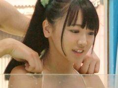 【マジックミラー号】初対面のイケメンとお風呂に入ってマットで生ハメSEXを堪能する素人娘!