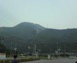 いぶき野の駐車場から見た伊吹山