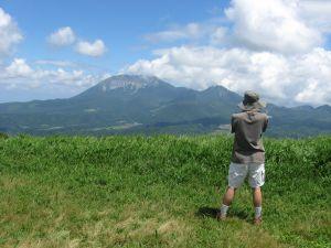 大山も雲が晴れて勇姿がくっきりはっきり!