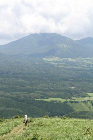 広いなだらかな稜線と蒜山