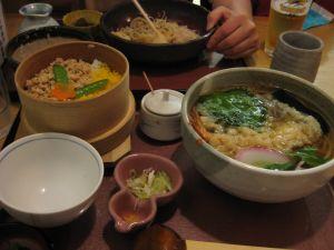 宝塚のそば屋で夕食