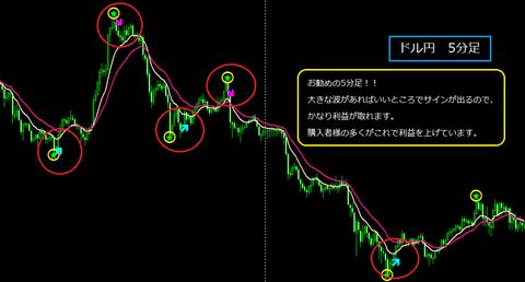 商品ページ用 ドル円5分足