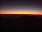 マウナケア山頂での落日