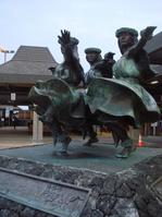 七日目 帰国(コナ空港で気になった銅像)