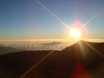 夕日と雲海