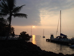 Keauhou Bayの夕日