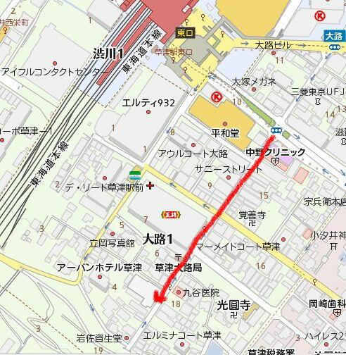 草津駅マップ