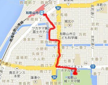 和歌山市駅マップ