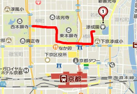 渉成園マップ