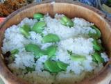 今日の主役の「空豆ご飯」