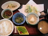 パパがいただいた「天ぷら定食」