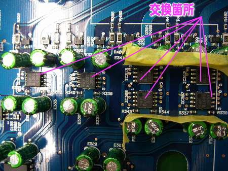 オーディオプロセッサーのオペアンプとDAコンバーター②