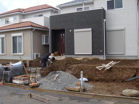 ブロック基礎工事?