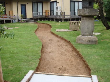 園路 掘削完了