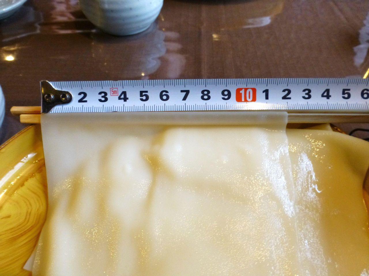 メジャーで計測すると、その幅はなんと12センチ!