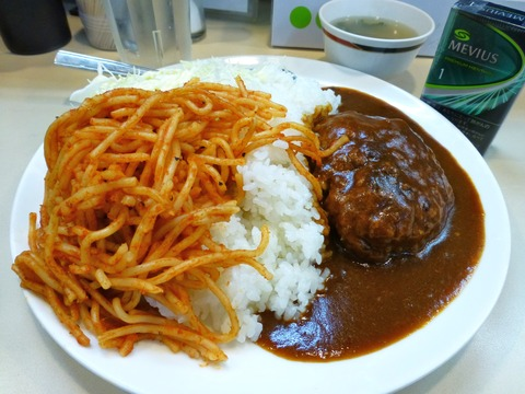 むさしや ハンバーグ丼大盛2