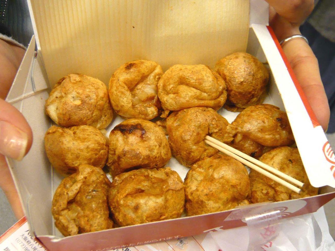 「美味しんぼ」で紹介された、元祖たこ焼き12個400円