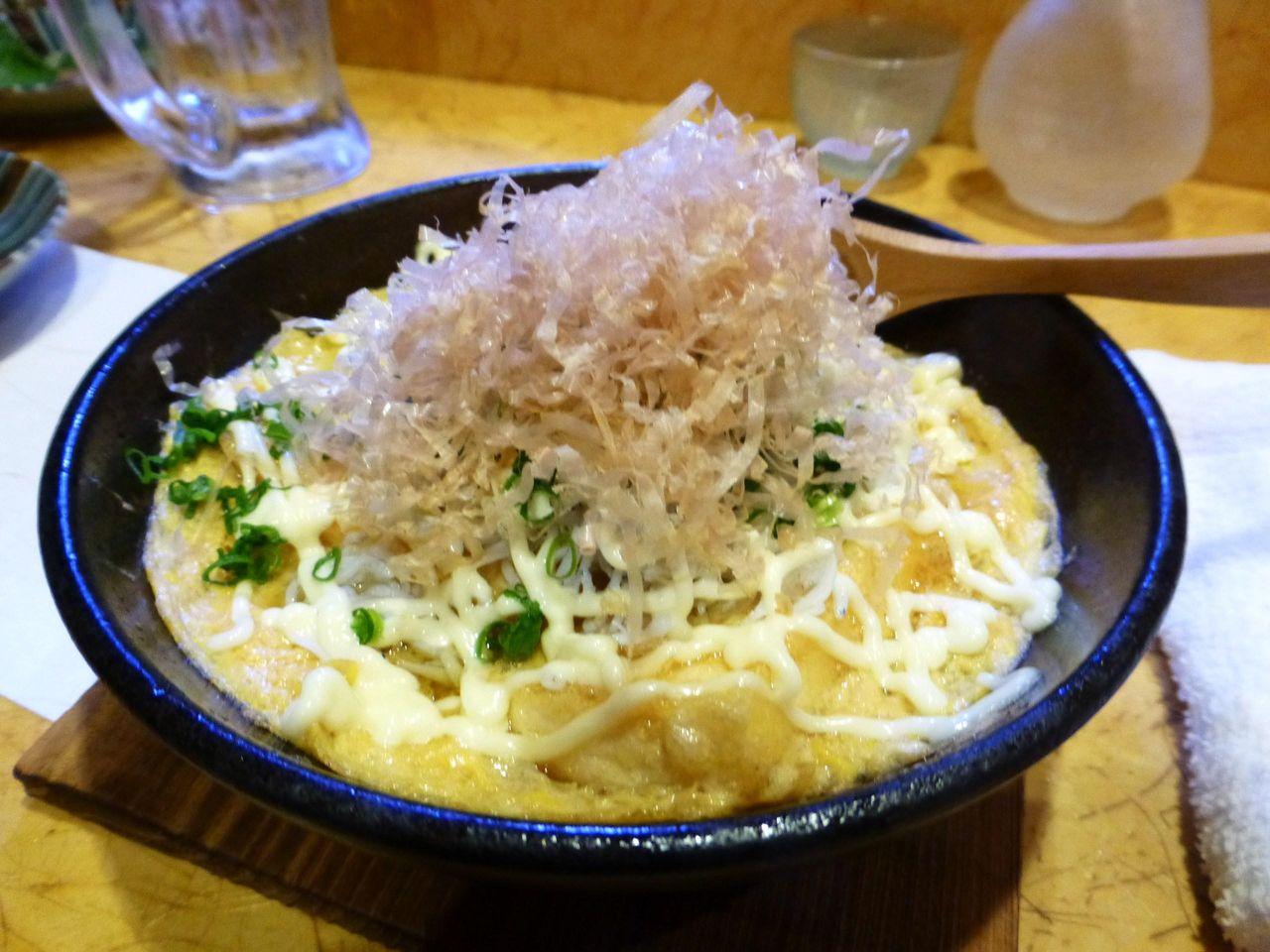 シラスたっぷり豆腐ステーキ580円