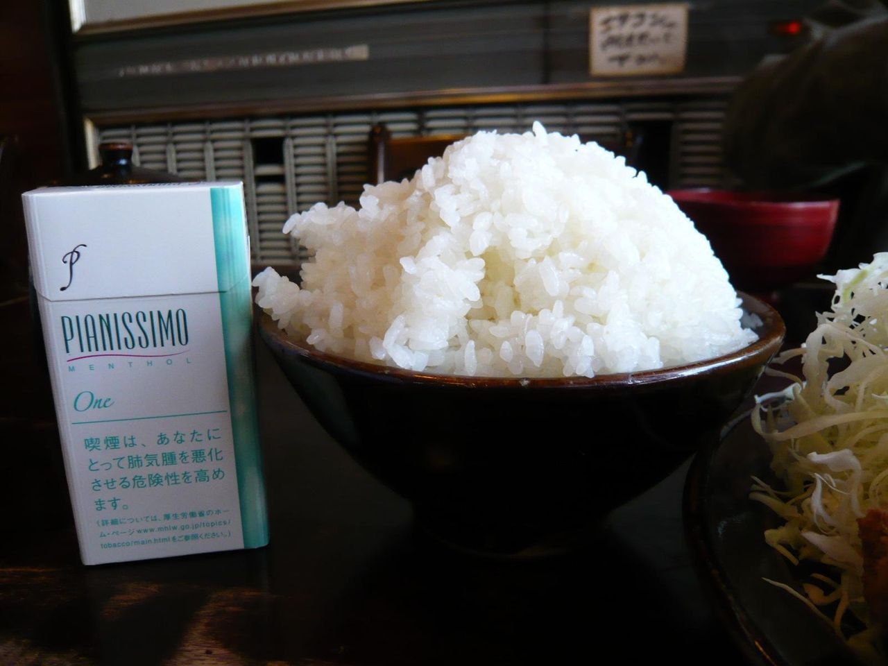 ご飯大盛は、まるで日本昔話盛り!