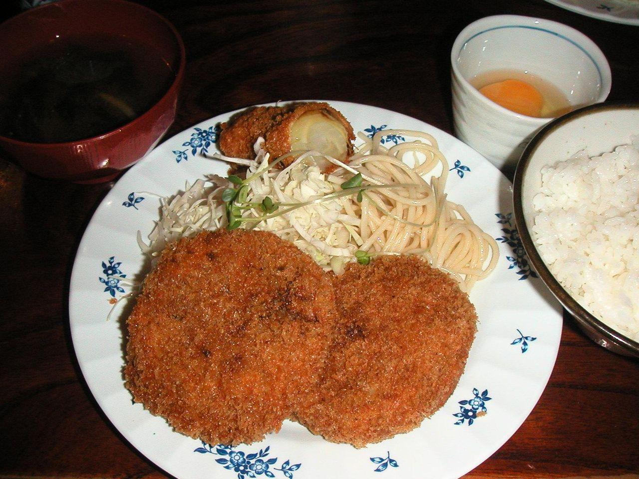 コロッケ定食500円