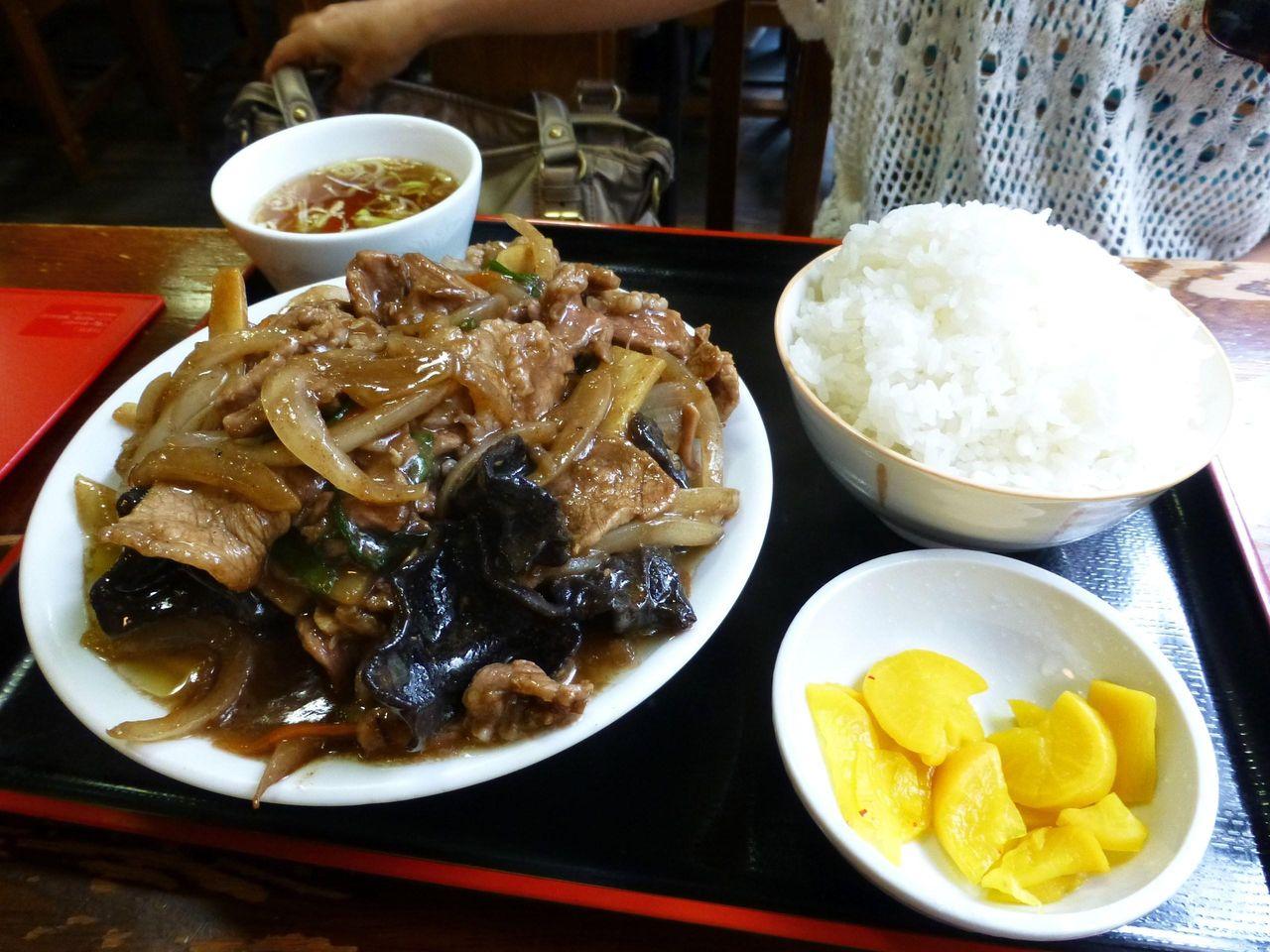 ウーシャンロウ定食(具少なめ、半ライス)750円