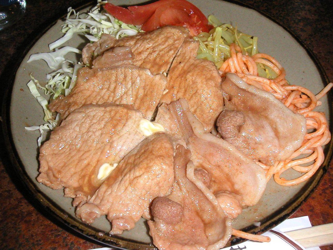 生姜焼き定食700円