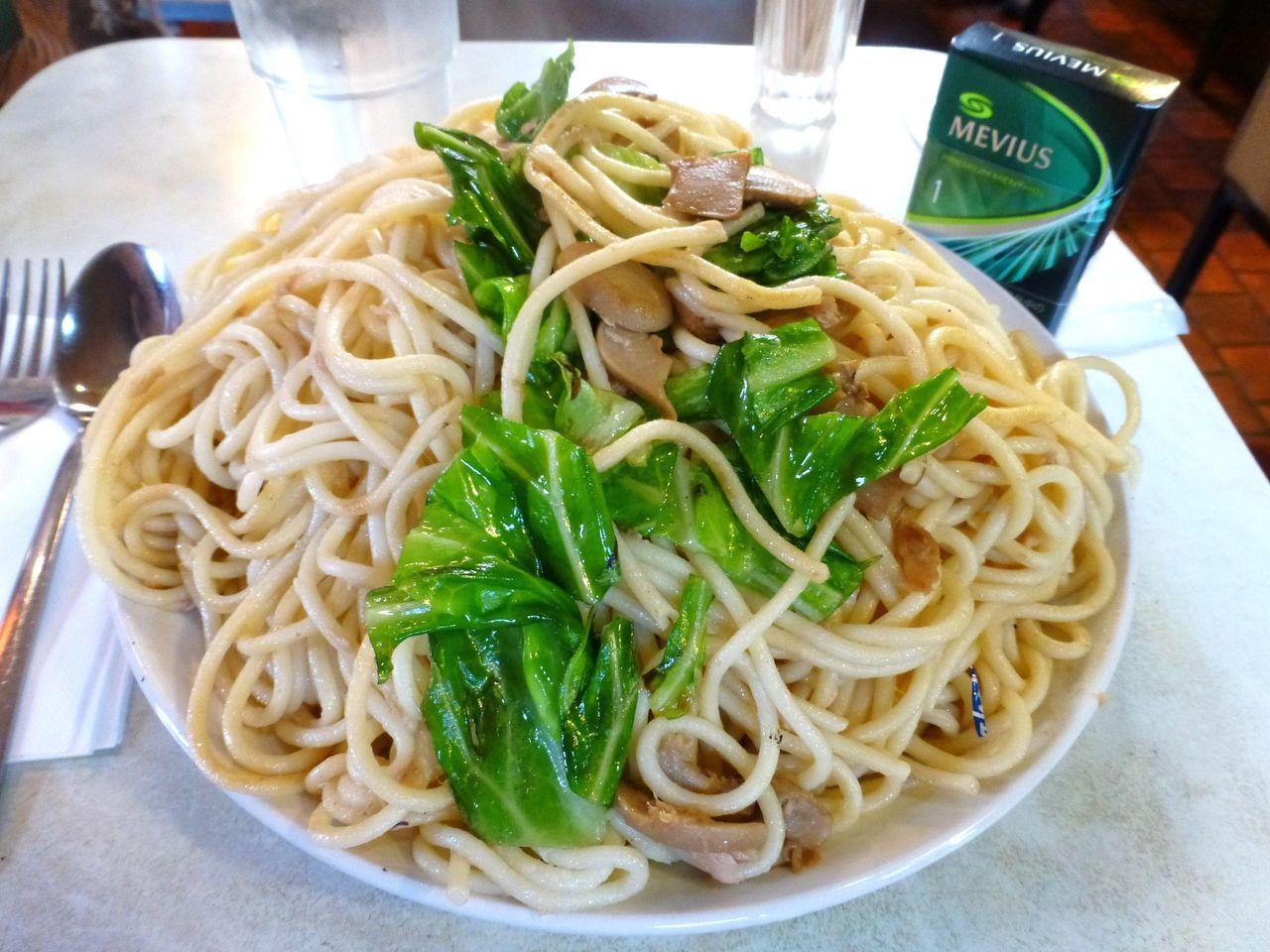 見るからに美味しそうな、和風スパゲティー大盛!