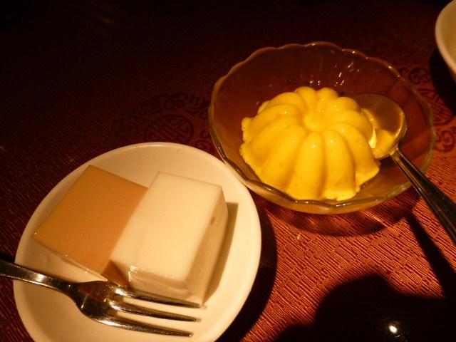 マンゴープリンとココナッツムース