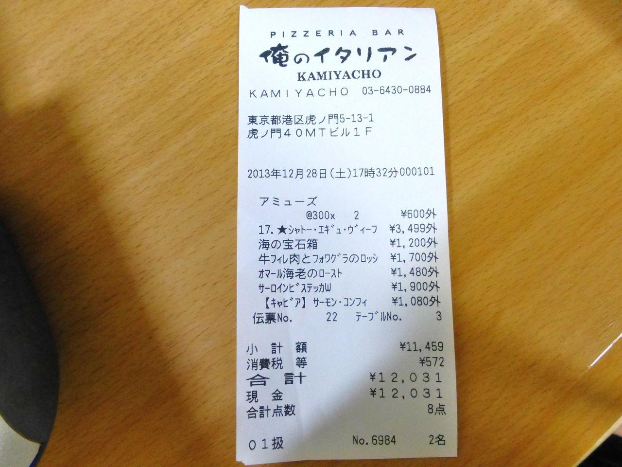 滞在時間65分で1人約6,000円!コスパは最強です!