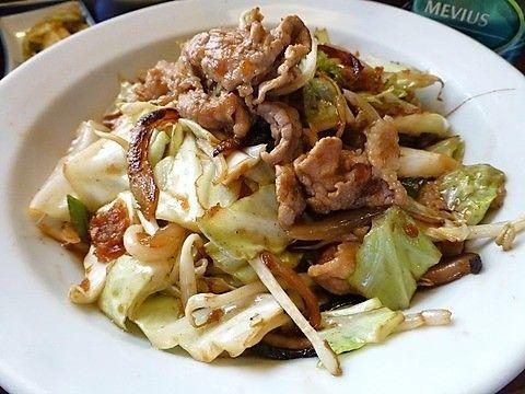 たくと 肉野菜炒め定食大盛2