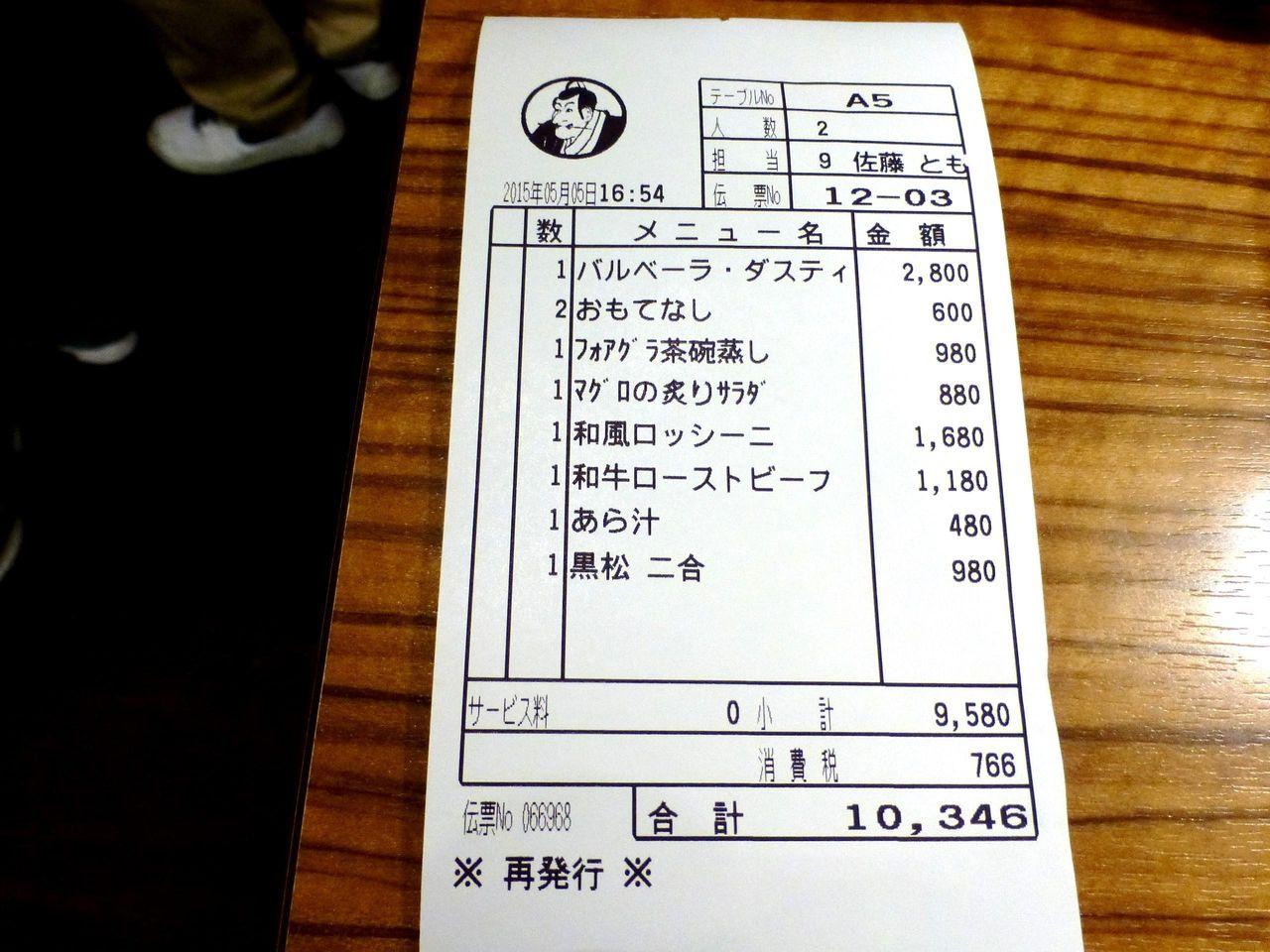 思う存分飲み食いして、お会計は1人5,173円!