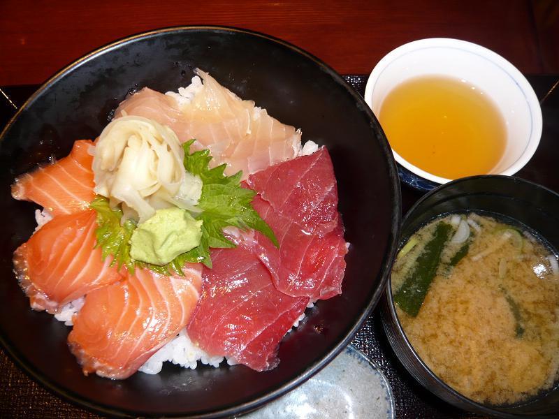 三色づけ丼(大盛)850円