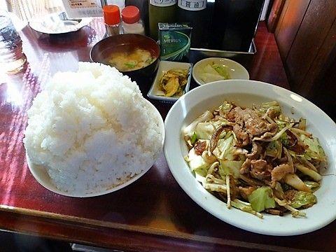 たくと 肉野菜炒め定食大盛1