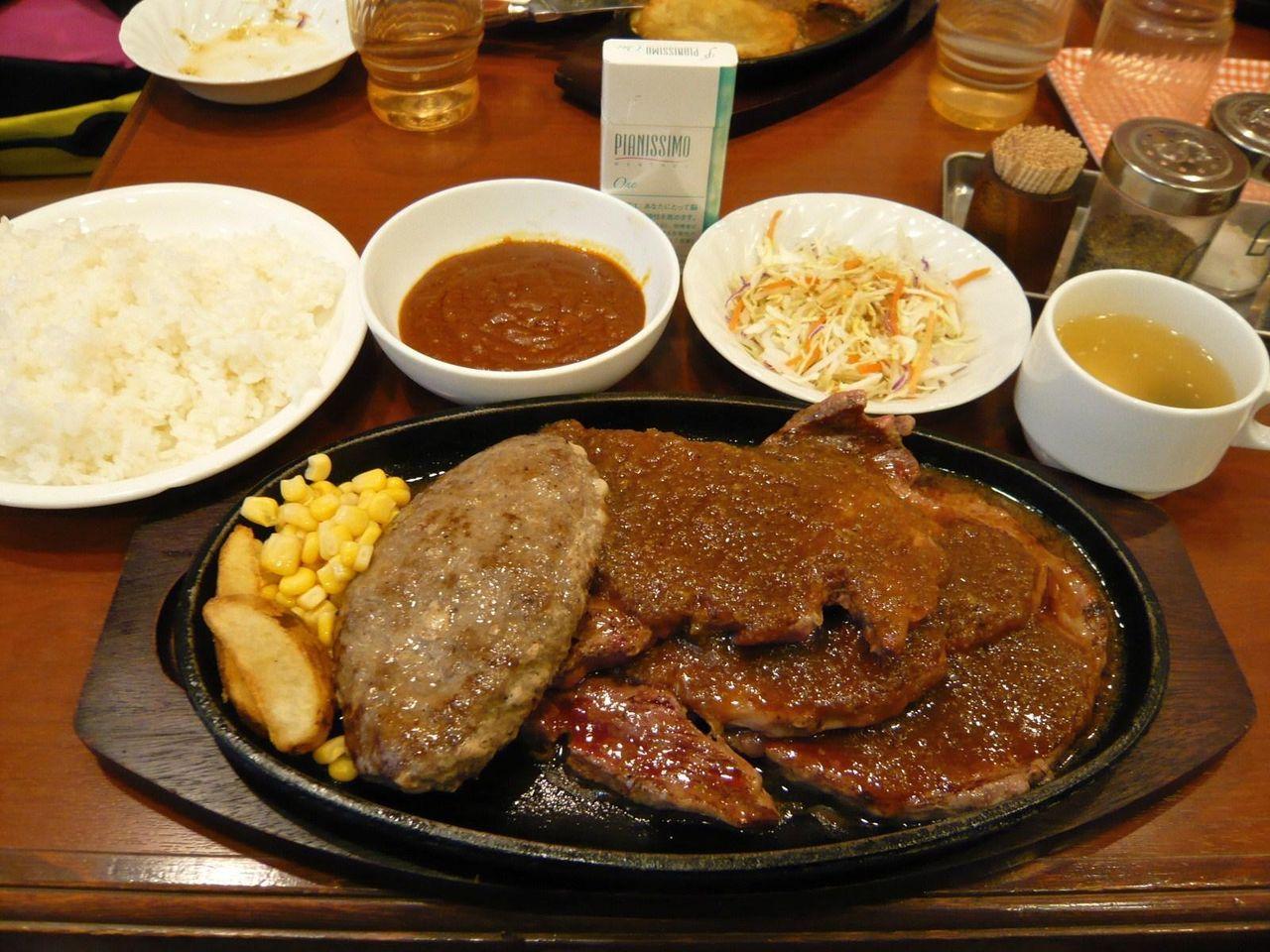 ステーキ450グラム+ハンバーグ2,230円
