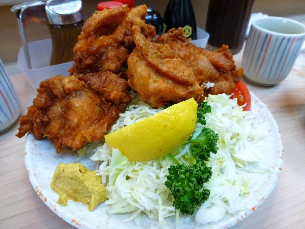 丸八とんかつ支店の、鳥の唐揚げ定食1,000円