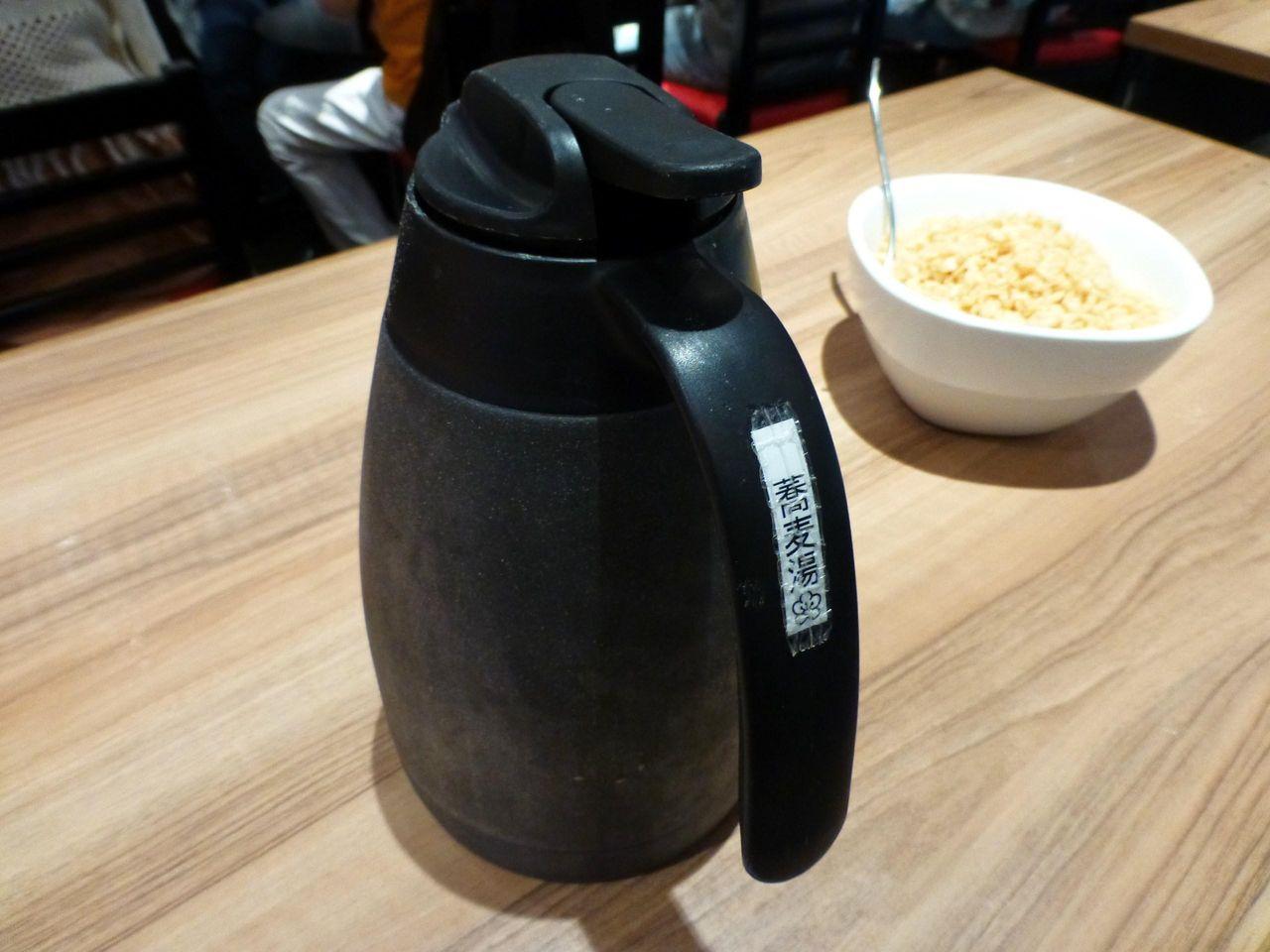 蕎麦湯も用意してあります!