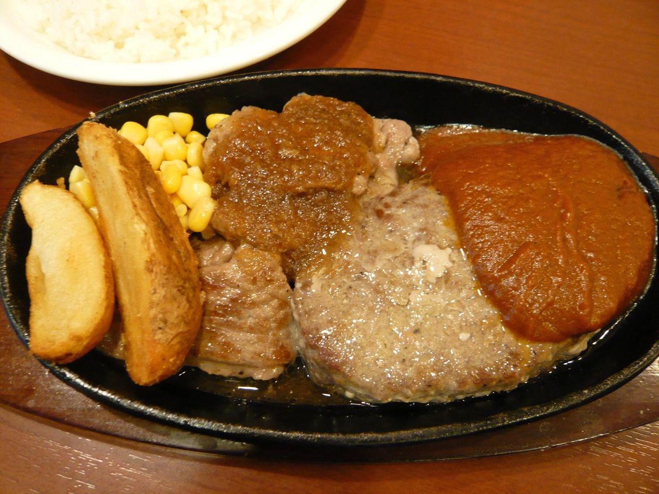 ハンバーグ&カットステーキ1,080円