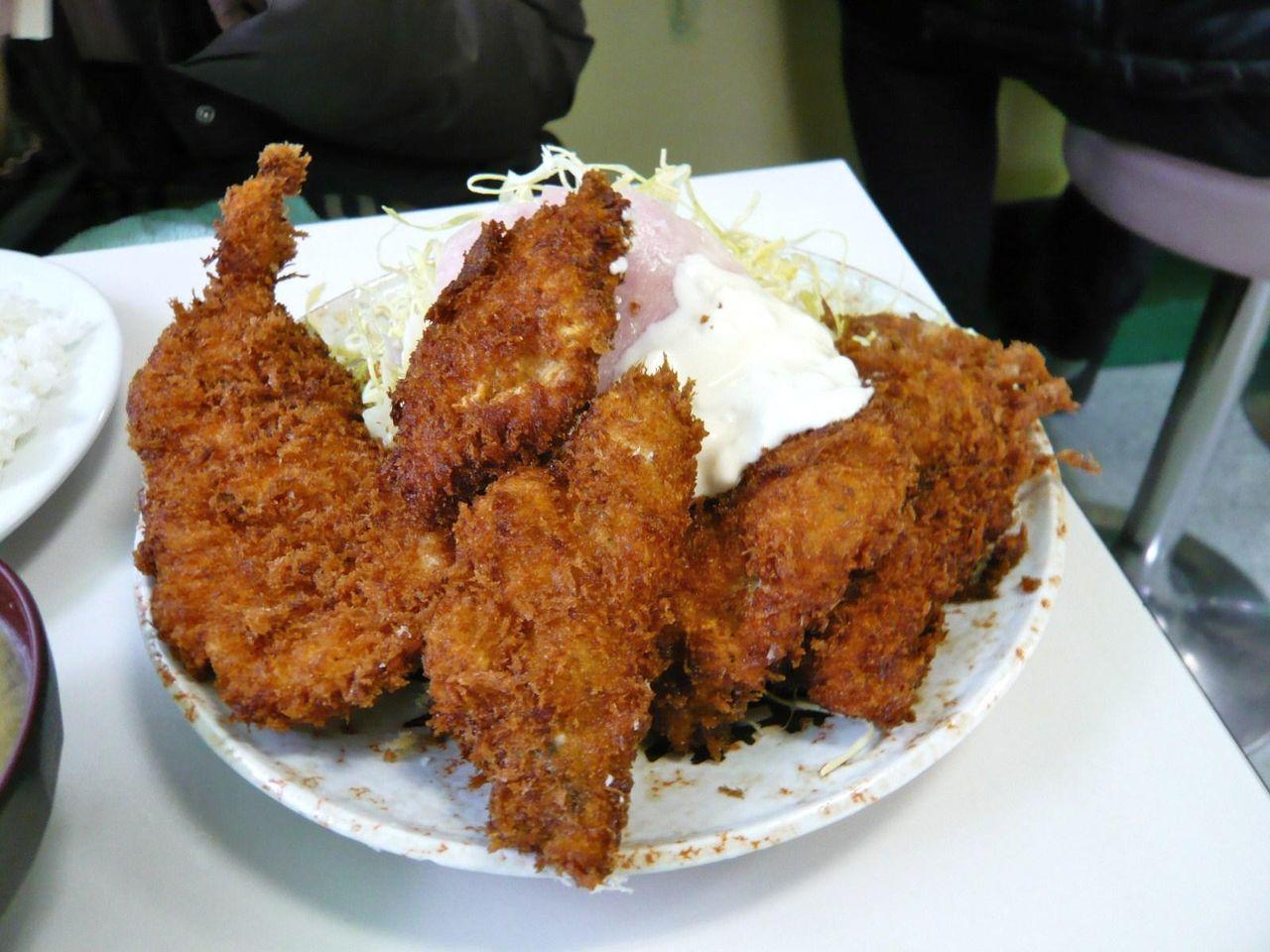 生カキフライ×3、海老フライ×1、950円