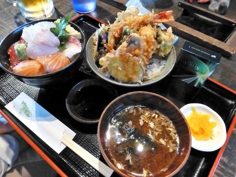 たかはん天丼(小)と海鮮丼(小)セット1