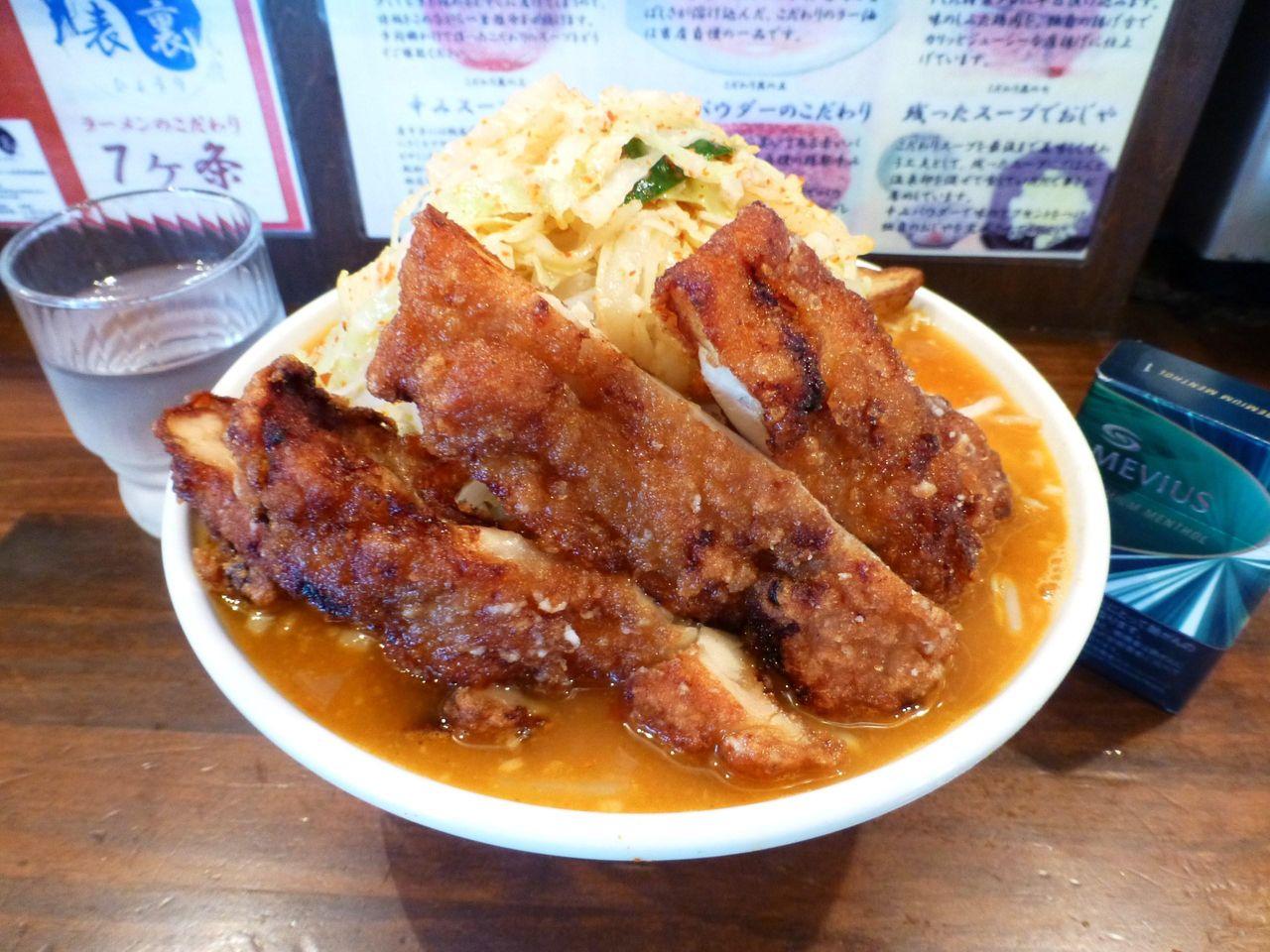 あんかけDX(麺中盛、野菜マシ)980円