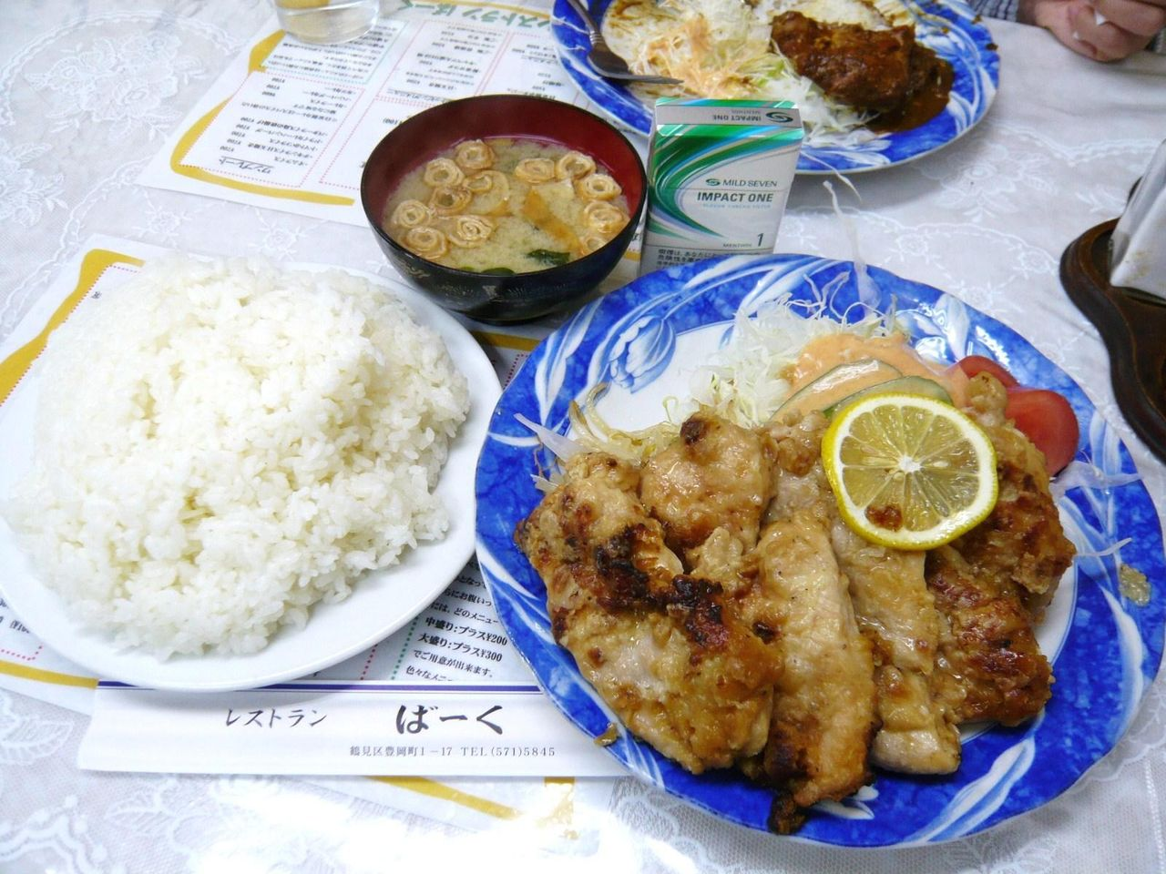 レストランばーくの鳥の唐揚げ定食(中盛)1,400円