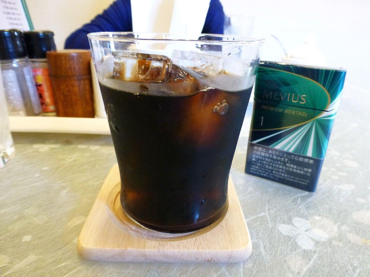 アイスコーヒーは、プラス100円です!