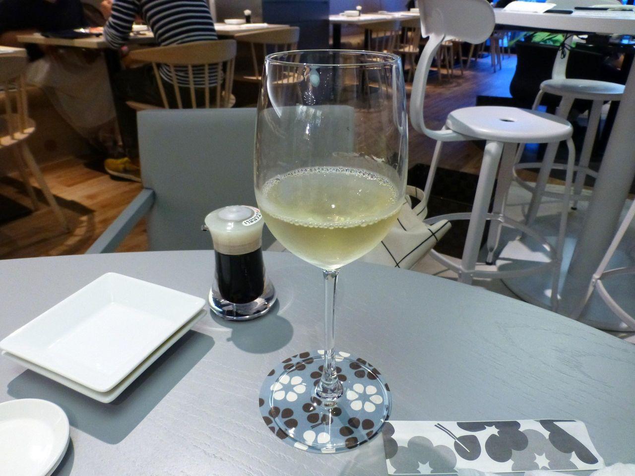 50CCにも満たない、白ワイングラス580円!
